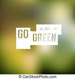 Go Green Concept Poster