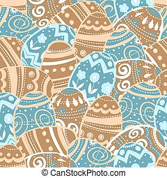 Seamless easter eggs pattern