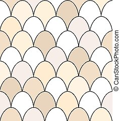 Seamless egg pattern - Seamless pattern of rows of brown and...