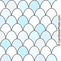 Seamless duck egg pattern - Seamless pattern of rows of blue...