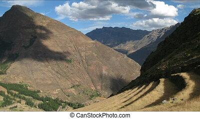 Pisac ruins time lapse - Pisac ruins in Peru