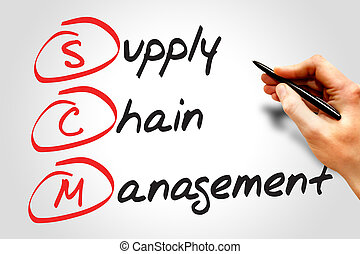 Supply Chain Management SCM, business concept acronym