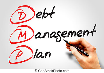 Debt Management Plan DMP, business concept acronym