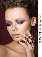 Beauty fashion glamour girl portrait