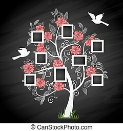 Photo - Memories tree with photo frames. Insert your photos...