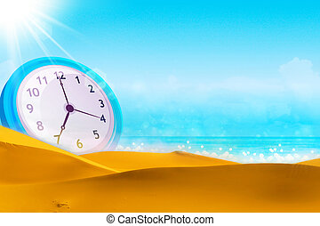 Time concept. Summer time.