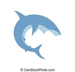 Shark - Vector image of a shark jumping