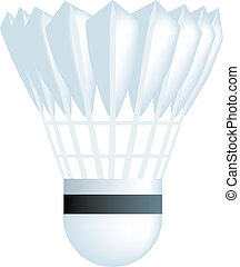 shuttlecock - simple icon style illustration of a badminton...