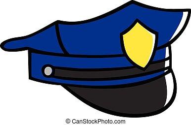 Police Hat - Doodle illustration of a police hat