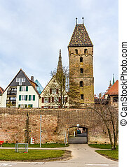 View of Ulm town - Germany, Baden-Wurttemberg