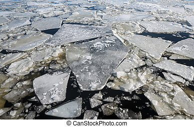 Floating of ice