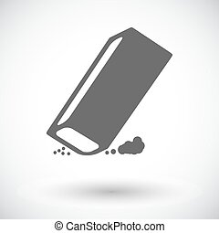 Eraser. Single flat icon on white background. Vector...
