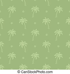 palm trees pattern - Seamless pattern with palm trees vector...