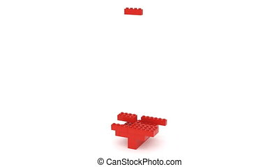 Toy Bricks Red Dollar Sign