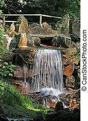 Waterfall in Lower Saxony, Germany - Water fall in...