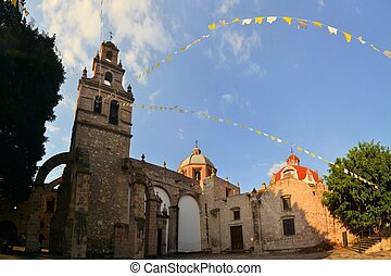 Christian Catholic Colonial church, Morelia, Mexico