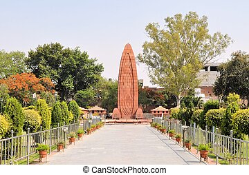 Jallianwala Bagh massacre memorial, Amritsar, Punjab, India...