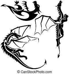 tatouage,  dragons