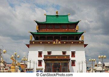 Gandan Monastery in Ulan Bator, Mongolia - Gandan Monastery...