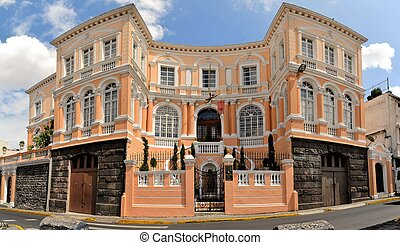 Colonial architecture detail, Quito, capital of Ecuador -...