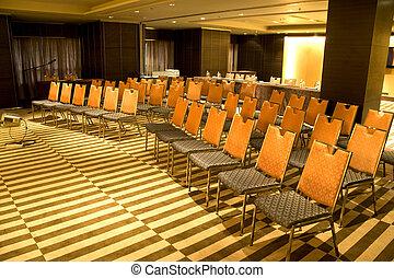 Modern Seminar Room - Image of a modern seminar room.