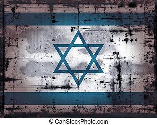 grunge israel - grunge background - israel flag -...
