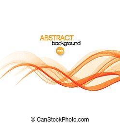 Vector Abstract orange curved smoky lines background...
