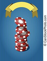 fiches casino - illustration of falling colorful chips for...