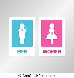 Restroom sign set for your design