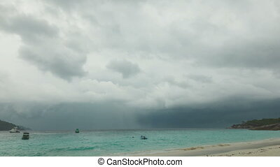 Thunderstorm over the ocean Similan Islands, Thailand...