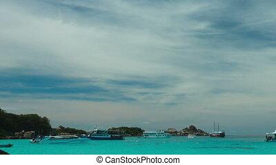Seascape - PHAN NGA, THAILAND - NOVEMBER 24, 2014: Beach of...