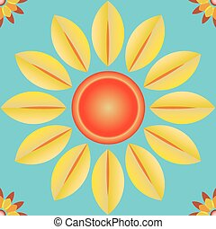 Pattern seamless vector flower background for different...