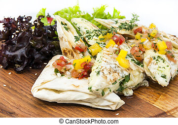 pita bread with vegetables