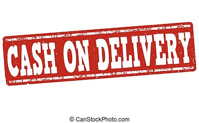 Cash on delivery stamp - Cash on delivery grunge rubber...