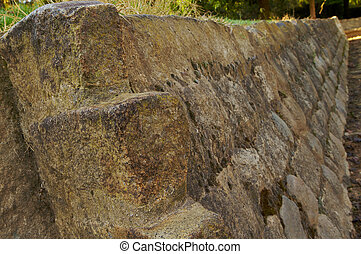 Stone Revetment - Gray Stone Revetment at local park in...