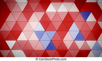 Triangle Polygon Loop 07 Patriotic - Seamless looping...