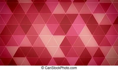 Triangle Polygon Loop 06 Love - Seamless looping background...
