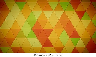 Triangle Polygon Loop 04 Fall - Seamless looping background...
