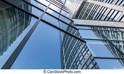 Low angle view of skyscraper - Skyscraper. Image of huge...