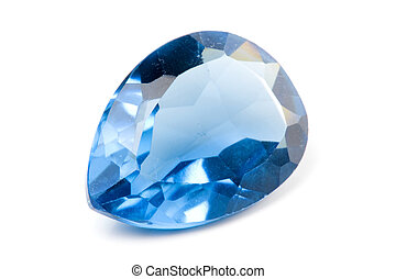 Aquamarine Gems on white background