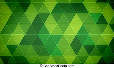 Triangle Polygon Loop 12 Emerald - Seamless looping...