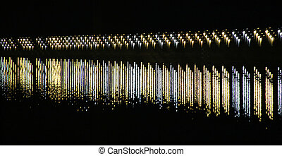 Staggered Lights On River
