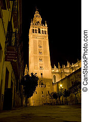 Giralda Tower - Tower of Giralda in Seville, Spain