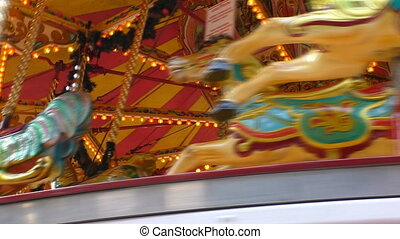 Vintage style carousel stops