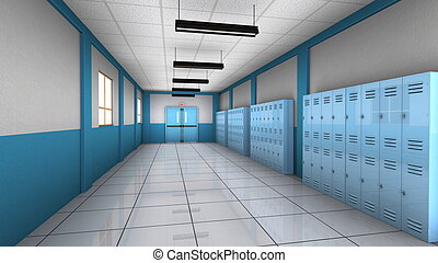 corridor - image of school corridor