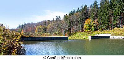 Small dam near Thomas West Virginia