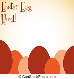 Overlay Easter egg card in vector format