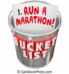 Bucket List Run Marathon Achieve Goal Mission Dream Big -...