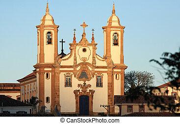 igreja de nossa senhora do carmo church Ouro Preto brazil -...