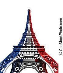 Eiffel, wieża, odizolowany,